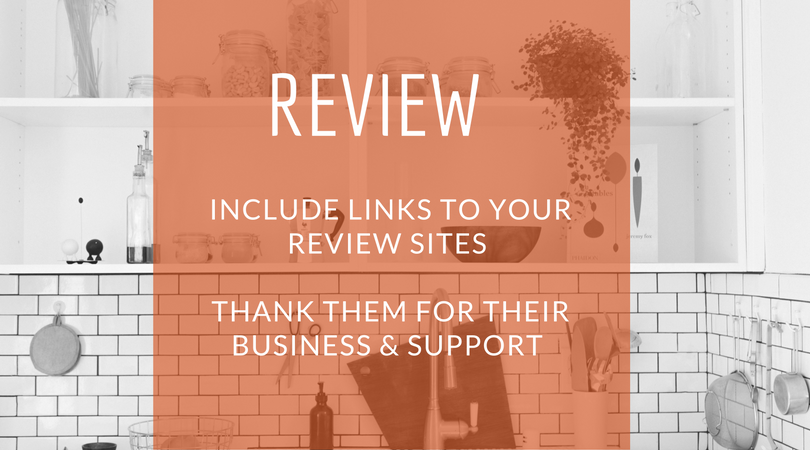 wha to include in your review email
