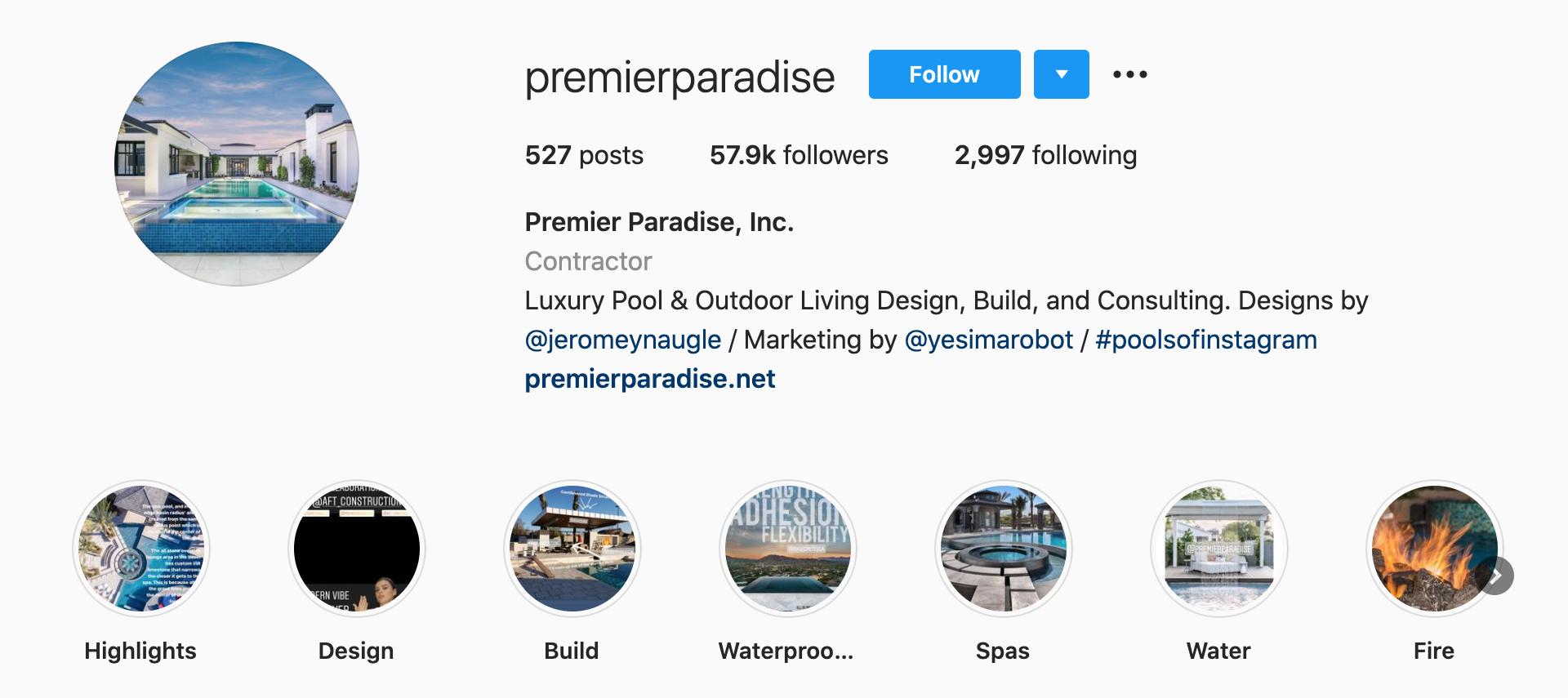Premier-Paradise-Inc-instagram-profile