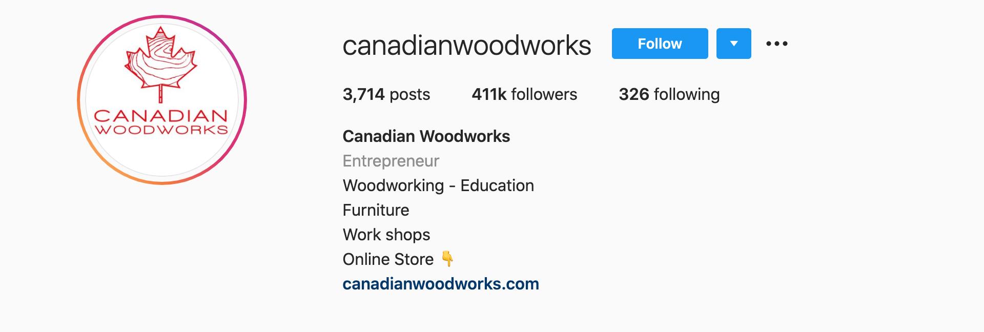 canadian-woodworks-instagram-profile