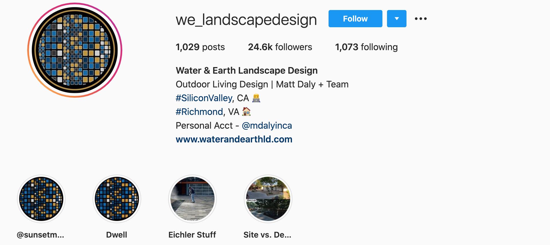 water-&-earth-landscape-design-instagram-profile