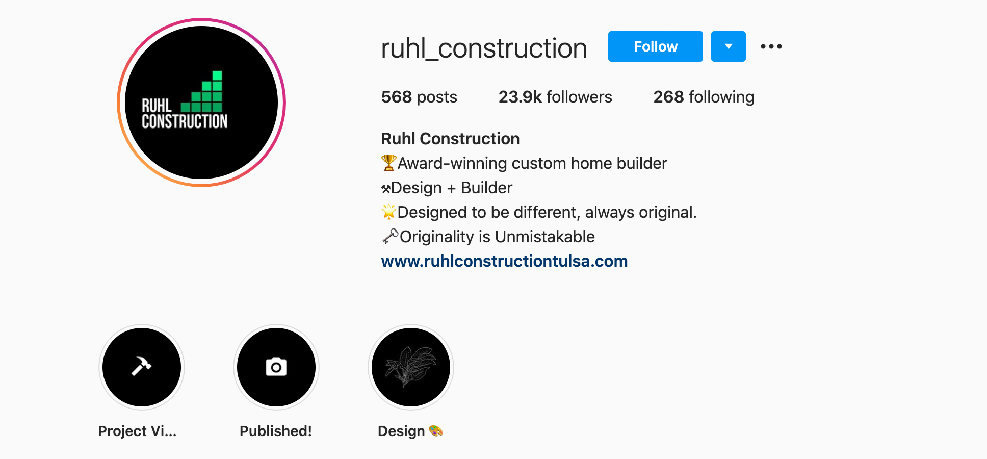 ruhl-construction-instagram-profile
