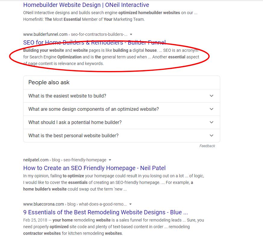 SEO for home builders & remodelers meta description