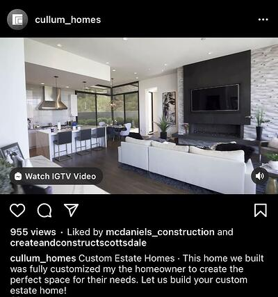 Instagram Post Ideas for Contractors, Remodelers, and Home Builders - Post Project Videos