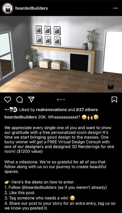 Instagram Post Ideas for Contractors, Remodelers, and Home Builders - Post Giveaways