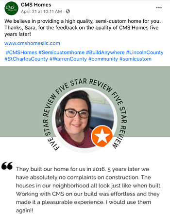 Facebook Post Idea for Remodelers, Contractors, and Home Builders - Client Testimonials