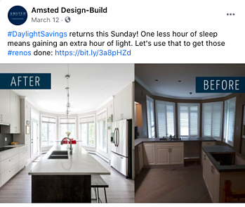 Facebook Post Idea for Remodelers, Contractors, and Home Builders - Before and After Photos