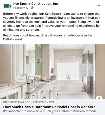 Facebook Post Idea for Remodelers, Contractors, and Home Builders - Answer to FAQs