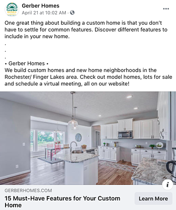 Facebook Post Idea for Remodelers, Contractors, and Home Builders - Blogs