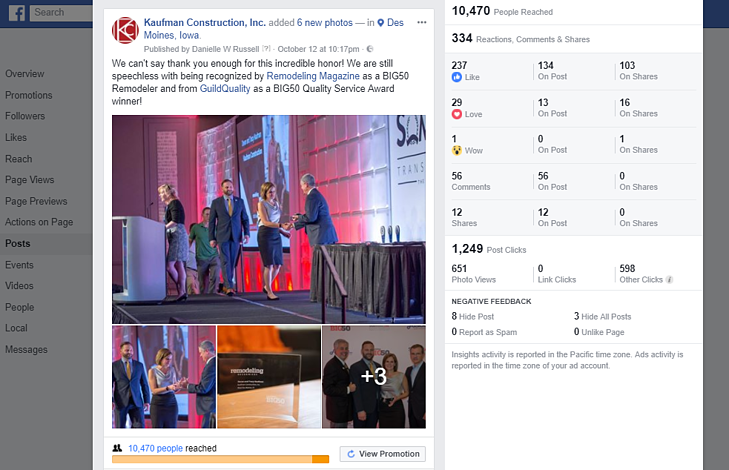 The Anatomy of the Perfect Facebook Post - Studying a Viral Success