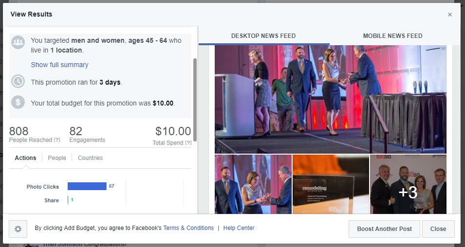 The Anatomy of the Perfect Facebook Post - Boosting