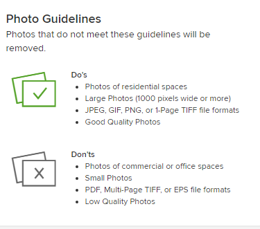 houzz photo guidelines