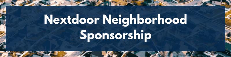 Nextdoor Neighborhood Sponsorship