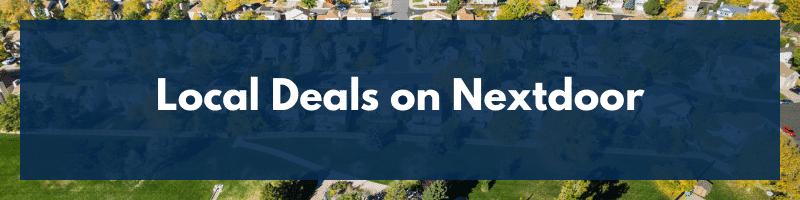 Local Deals on Nextdoor