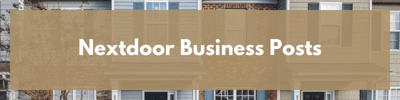 Nextdoor Business Posts