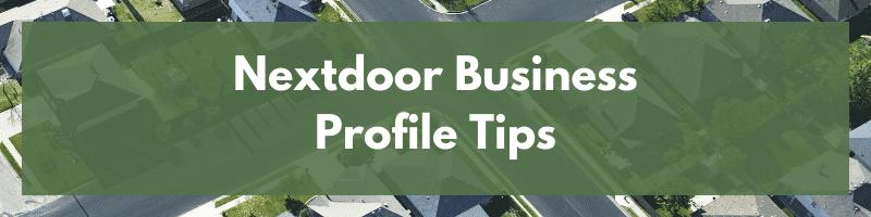 Nextdoor Business Profile Tips